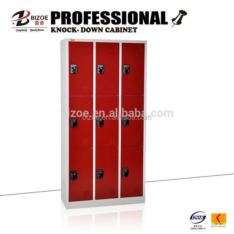 High quality KD 9 door steel locker for shoes