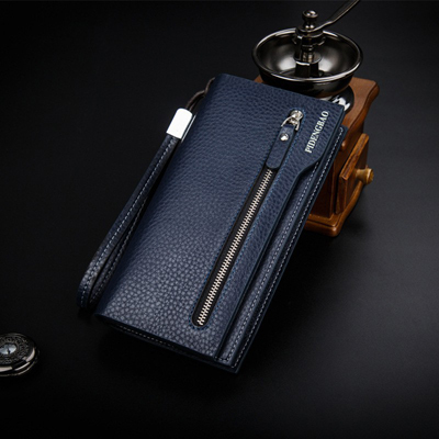 New fashion multifunctional Casual Leather Men Wallets Coin Purse Brand Business Men's Long Zipper Wallet