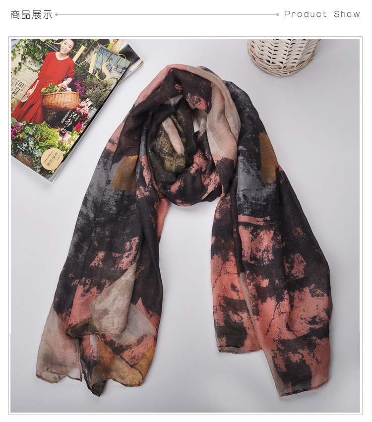 180*90cm High quality Elegant Fashion Women Long Print Cotton Polyester Scarf Wrap Ladies Shawl Large Scarves 2016 HOT