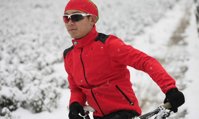china OEM windproof fleece winter cycling themal jacket custom cycling jacket