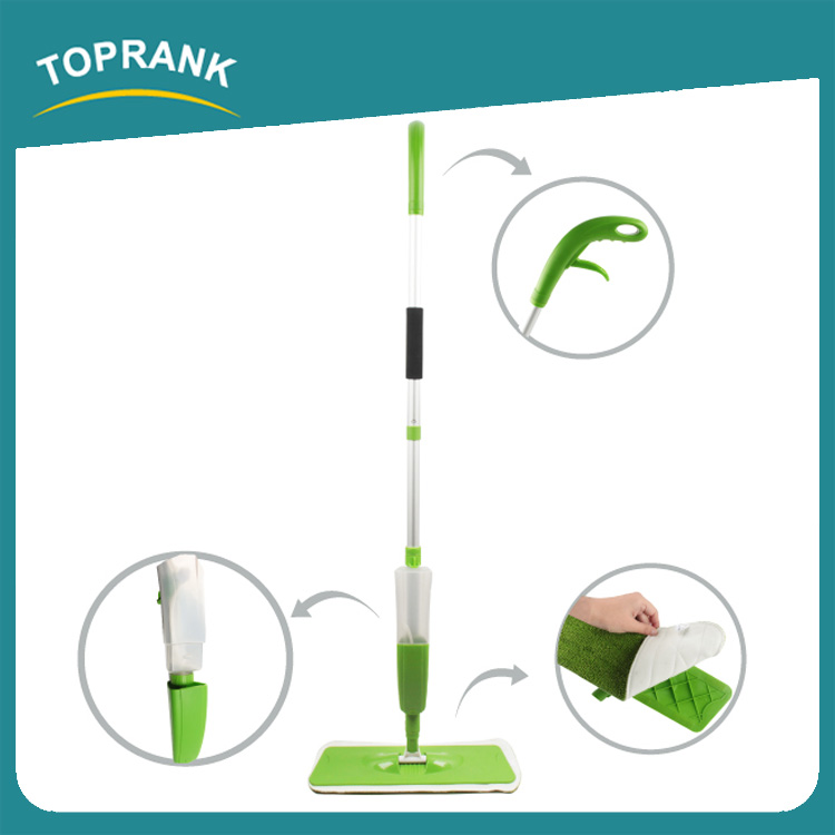 Toprank Multifuction Telescopic Aluminium Pole 2 In 1 Spray Mop Floor Cleaning Microfiber Water Spray Mop With Window Squeegee