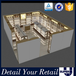 Custom 2016 popular retail shoes shop layout for new shop with shop fittings