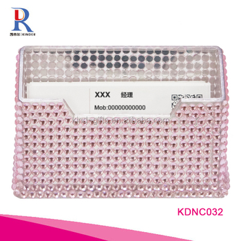 Fashional business card holder crystal style namecard holder wholesale price name card case