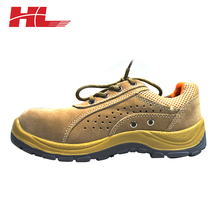 high quality acid and alkali resistant Beige work boot Steel Toe Cap For Safety Shoes