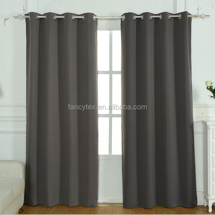 hot sale 100% polyester two tone blackout curtain blackout polyester curtain for live beding room curtain hotel room European