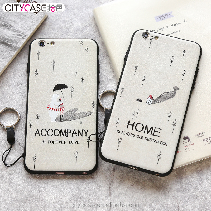 citycase mobile phone case factory 3D sublimation printing TPU PC phone cover case for iphone 6 6s 4.7'