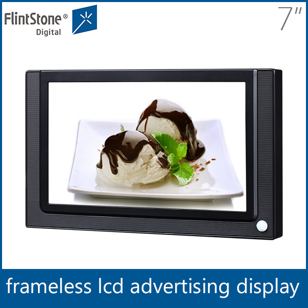 flintstone 7 inch small lcd video player/tft lcd digital signage , digital advertising 800x480 touch screen monitor vga