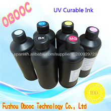 MSDS Certificated Inkjet Flatbed Printer White UV Ink for Fabric Printing