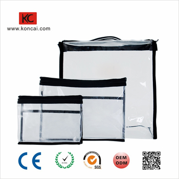 For Cosmetic Sets Small Handle On The Top Cover Custom PVC Toiletry Packing Bag Series