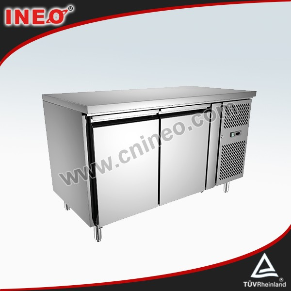 2 Door Stainless Steel Commercial hotel cabinet refrigerator/low power consumption refrigerator