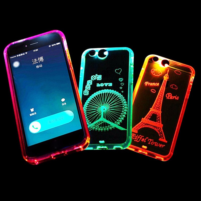[Somostel] wholesale 2 in 1 light up animal noctilucent mobile phone case for iPhone 5 5c 5s