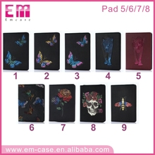 3D animal 2017 Leather Pattern universal case for ipad 5 6 7 8