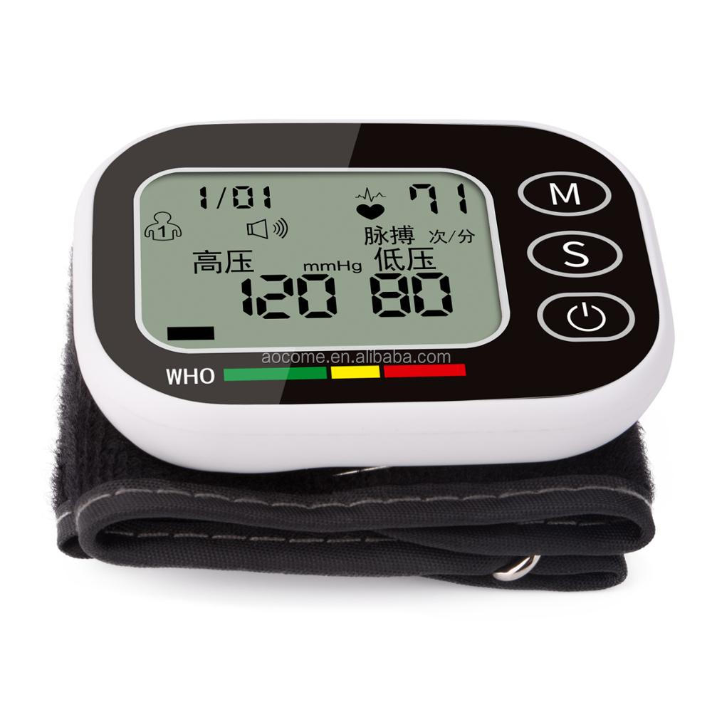 High Quality Wrist Blood Pressure Monitor Automatic Monitor Measuring Heart Beat Meter Electronic