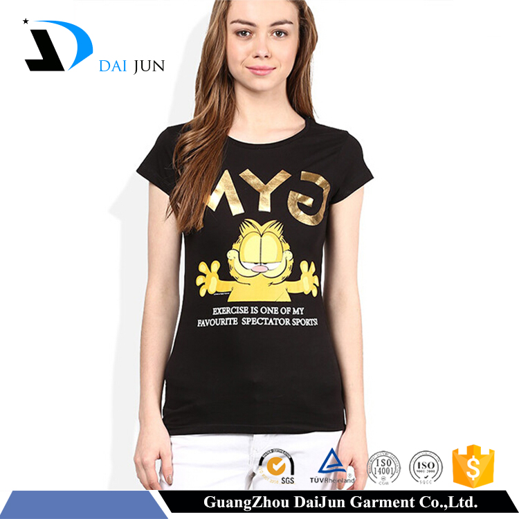 China women factory promotion very low price oem cotton funny t-shirt