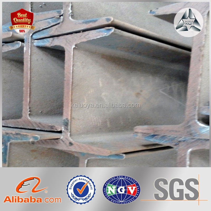 EN,BS,ASTM,JIS,GB,DIN,AISI Standard and S235JR-S355J2 Grade I Beam Steel Beam Sizes MS I Profile