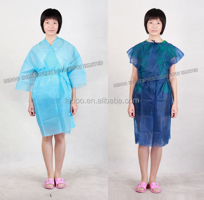 Free sample disposable hospital patient gown