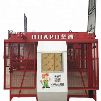 Construction hoist and Elevator SC100 for lifting building material