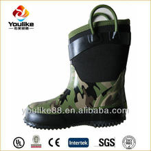 YL8109 Hot Sale Cheap Kids Neoprene Camo Boots