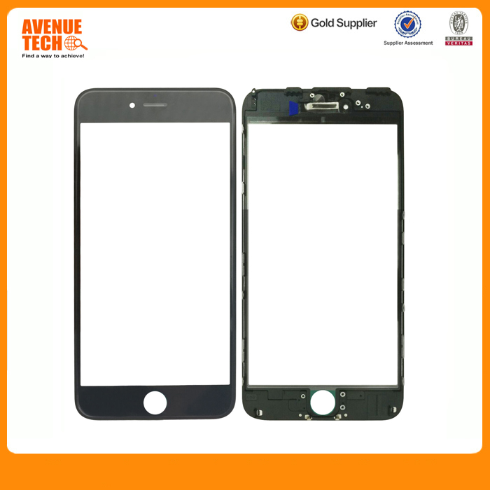 cheap cell phone part for Iphone 6 6+ lcd screen original glass lens, cold press front glass installed frame for iphone 6s parts