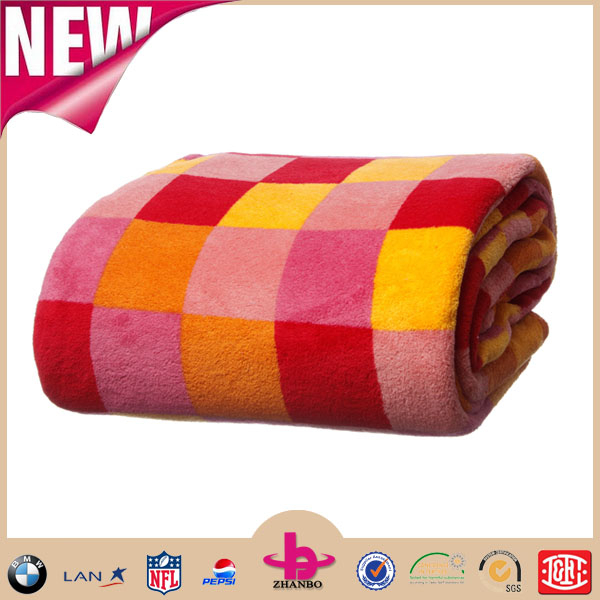 China factory Cheap air conditioning Colorful Twin/queen/king size Square Super soft Micro Plush coral fleece home nap blankets