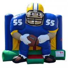 cheap best 3D inflatable football player bouncer/ jumping bouncy castle for rental sale