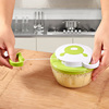 Creative household manual kitchen hand held food chopper pull string vegetable chopper