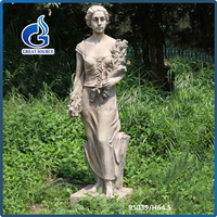 Wholesale Western Large Fiberglass Garden Lady
