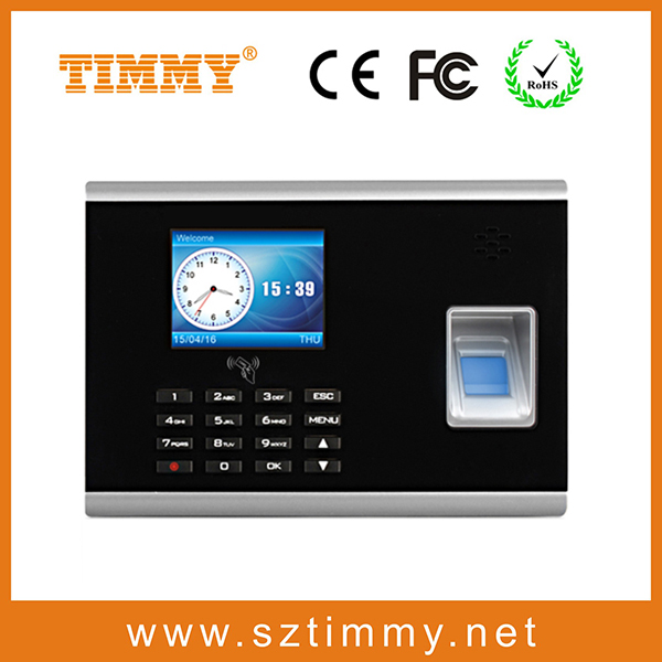 time recording and attendance fingerprint attendance time clock attendance machine with top algorithm