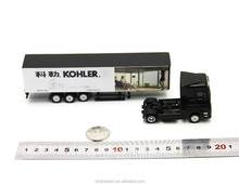 20cm long, scale 1:87, alloy miniature container truck custom made toy