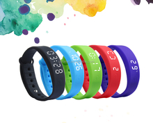 Waterproof colorful led flash reminder silicone bracelet calorie pedometer