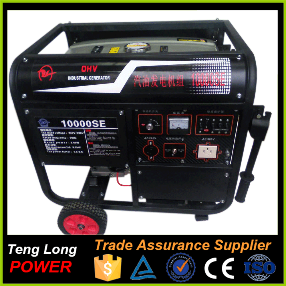 Portable generator 10kw three honda 3 phase generator set