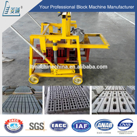 Small manual hand press compressed concrete earth block brick making machine small
