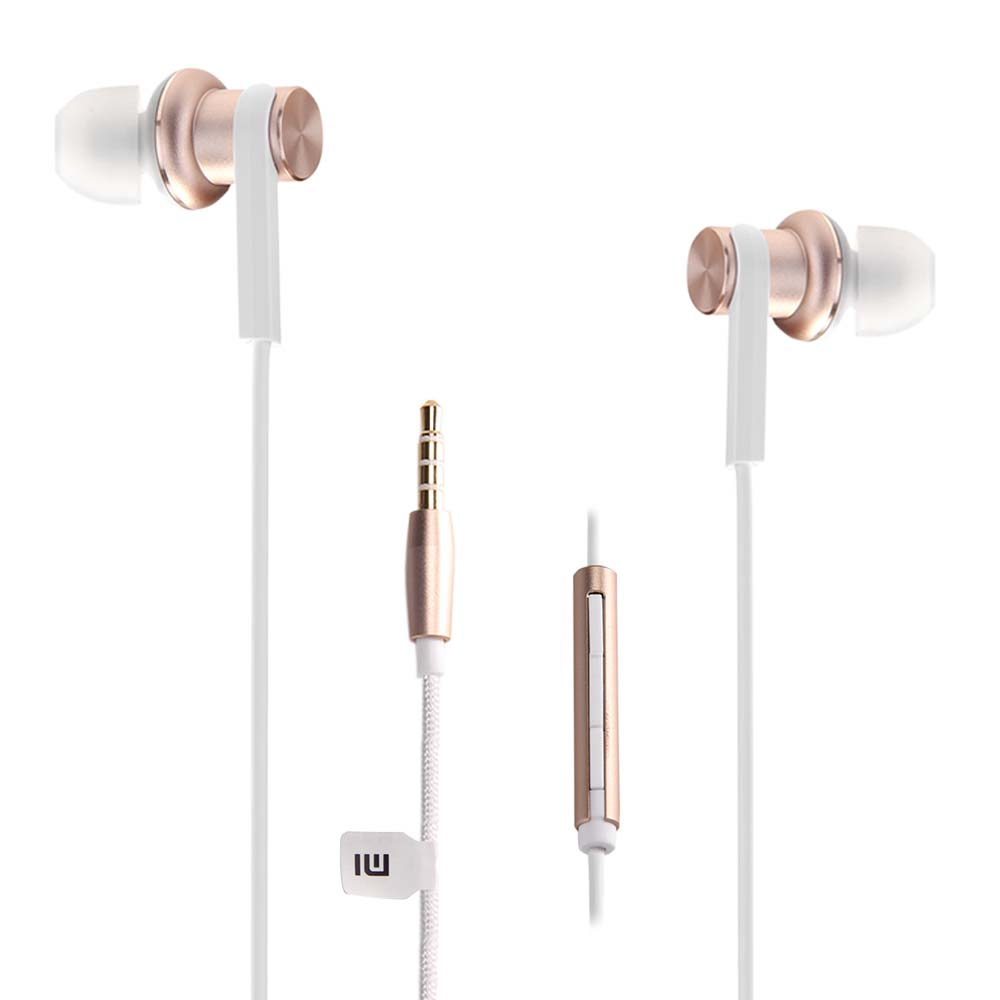 Original Mi IV In-ear Dual Dynamic Driver Wired Control Earphone Headphone with MIC for Android iOS