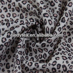 75d drapery soft leopard 100% poly printed fabric
