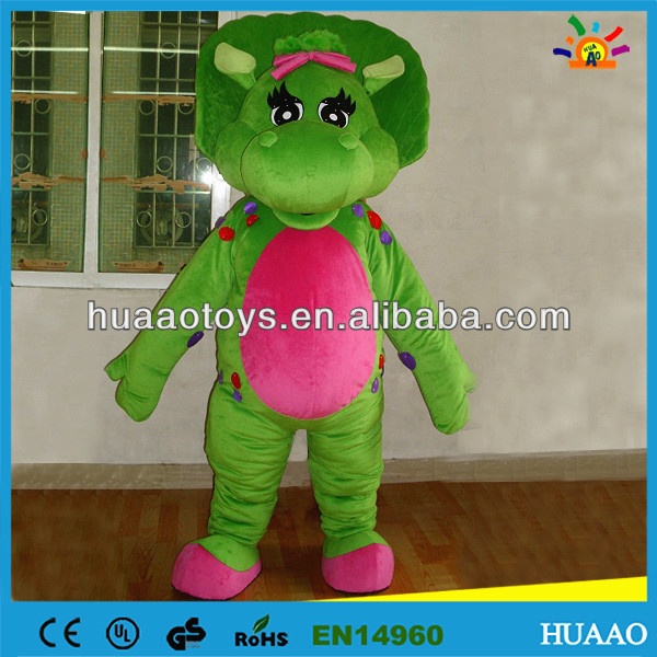 High quality barney and friends mascot costume