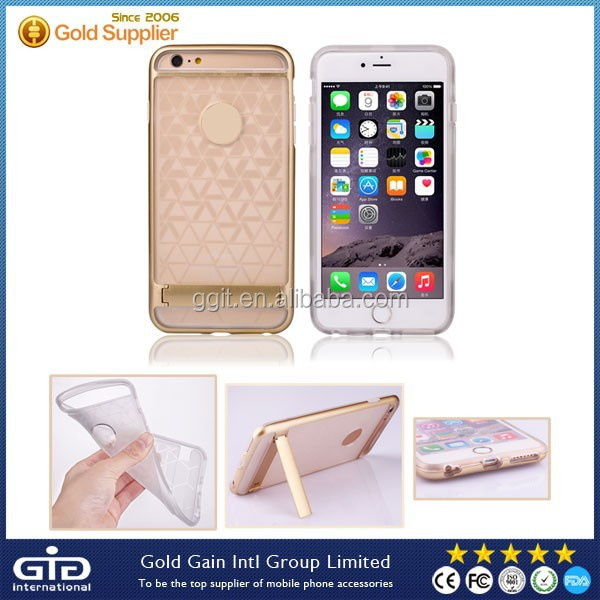 Fashion 2 in 1 Case With Stand For iPhone 6 Plus Back Cover