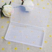 2*8*14.5CM Clear Plastic Storage Box Transparent Plastic Box Jewelry/Sewing Tool Boxes