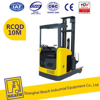Power operated load capacity 1.0t mini reach truck forklift