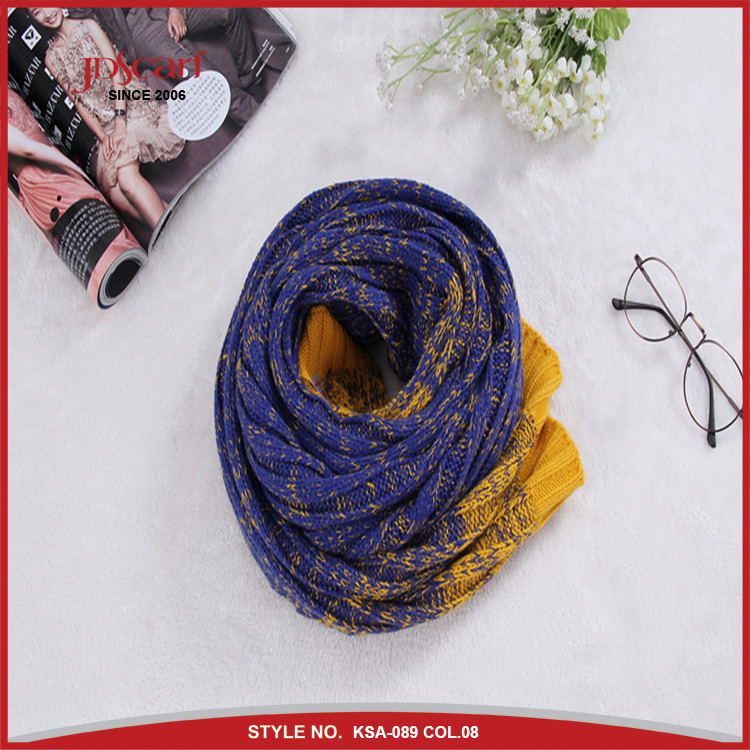 Different color wholesale knitted scarf mens scarf knitting pattern