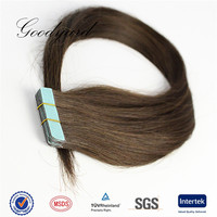 Qingdao factory cheap unprocessed natural virgin brazilian human tape hair