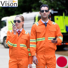 Firemen heat insulation suit uniform hi vis workwear <strong>orange</strong> color for firemen