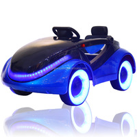 apple logo plastic kids ride on car/2.4G remote control 4 wheel toy car/6V rocking ride on toy for children with music, mp3,blue