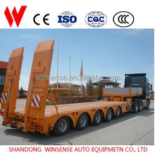 5 Axle Lowbed Semi Trailer for Mining Machinery Transportation