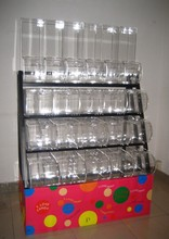Clear Acrylic Pick and Mix Dispenser Candy Container Bins Boxes with Lid