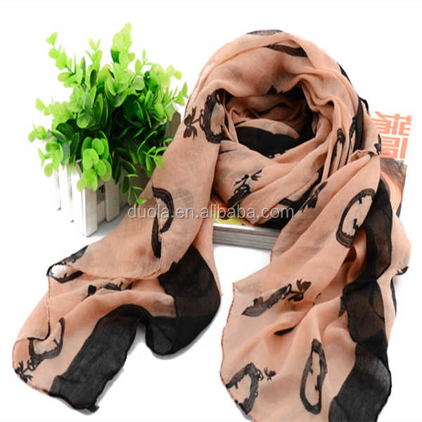 Dora Accessories 2017 Hot Sell Popular Style Women Scarf Hijab with Printed pattern
