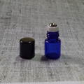 2ml 15x27mm Cobalt Blue Roll On Bottle With Steel Roller And Plastic Cap For Sale