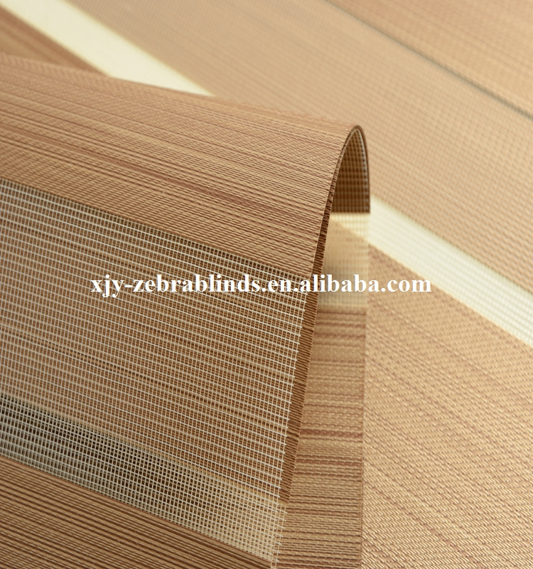 High quality solar screen fabric for zebra blinds from city Shaoxing