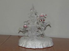Acrylic Lighted Snowman Tree Decor Christmas Display