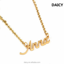 DAICY cheap wholesale stainless steel 18k gold women letter name design pendant
