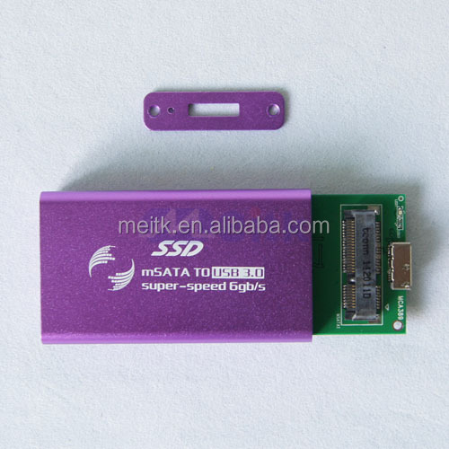 New arrival msata mini pcie ssd to usb 3.0 converter adapter